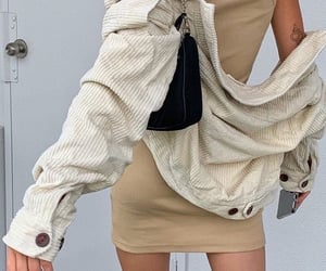 beige, outfit, and clothes image