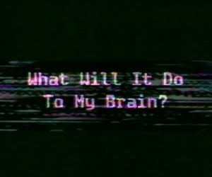 aesthetic, brain, and glitch image