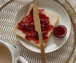 breakfast, jam, and snack image