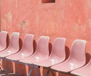 chairs, peach, and pink image