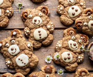 teddy bear, Cookies, and snickerdoodles image