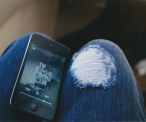 two door cinema club, jeans, and iphone image