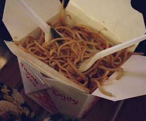 food, noodles, and chinese food image