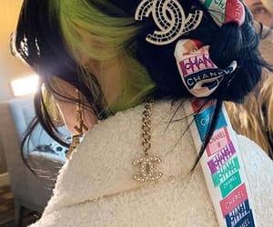 green, nails, and billie eilish image