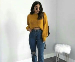 ankleboots, fashion girl, and jeans image