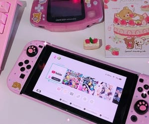 game, nintendo, and pink image
