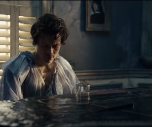 falling, music video, and piano image