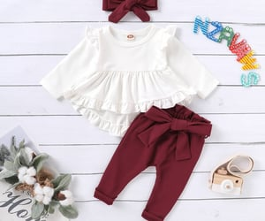 headband, 3-piece, and solid clothes image