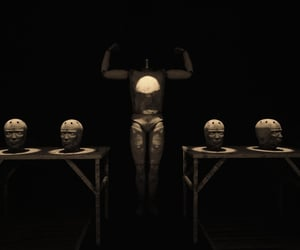 black, mannequin, and table image