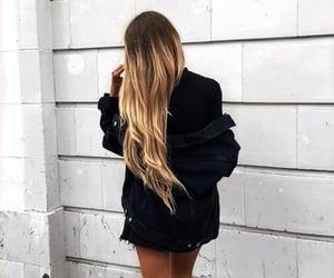 blonde, blonde girl, and long hair image