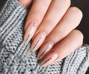aesthetic, nails, and silver image