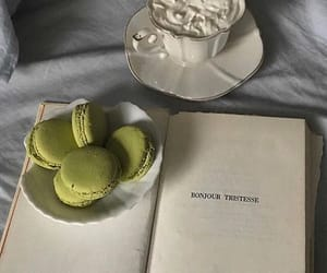 book, Bonjour Tristesse, and coffee image