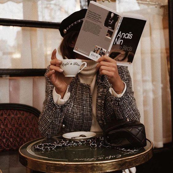 fashion, coffee, and book image