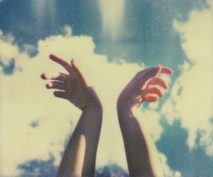sky, hands, and clouds image