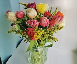 bouquet, flowers, and spring image