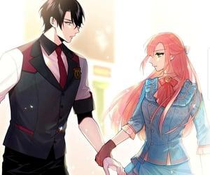 couple, webtoon, and jealous image