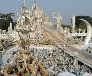 thailand, whitetemple, and chiangrai image