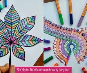 art, drawings, and doodle art image