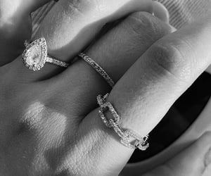 black and white, ring, and style image
