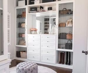 home, interior, and closet image