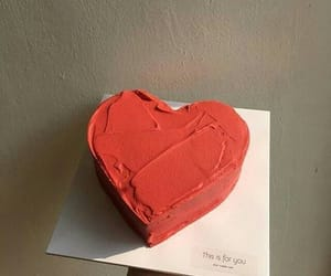 cake, red, and heart image