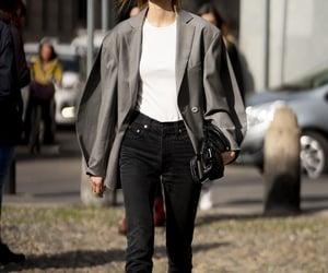 black, white, and fashionweek image