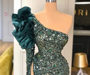 dress, valdrin sahiti, and green image