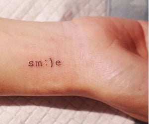 smile, 💜, and tattoo image