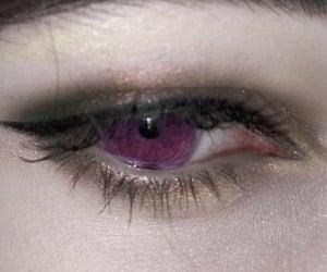 eyes, purple, and grunge image