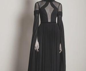 black, dress, and black dress image