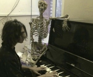 aesthetic, grunge, and piano image