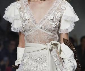 dress, fashion, and whitedress image