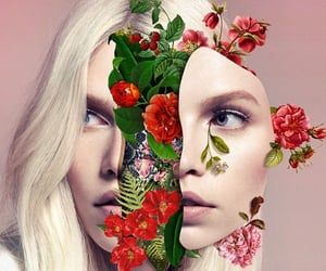 art, floral, and surreal image