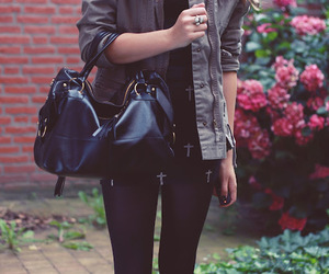 bag, hipster, and jacket image