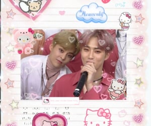 exo, hello kitty, and kpop image