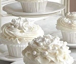 cupcake, white, and sweet image