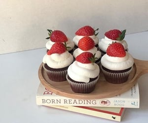 aesthetic, books, and dessert image