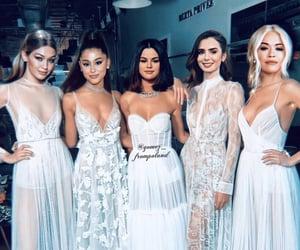 girls, ariana grande, and selena gomez image