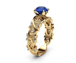 etsy, gold ring, and filigree ring image