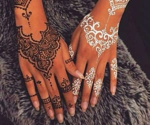 article, beauty, and henna image