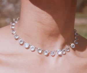 diamond, girl, and necklace image
