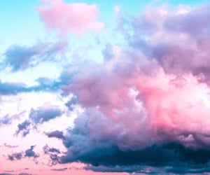 blue, clouds, and lilac image