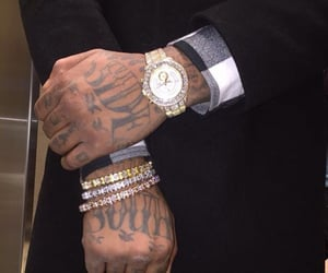 tattoo, watch, and luxury image
