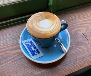 blue, cafe, and coffee image