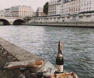 food, wine, and paris image