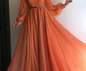 a line prom dress, chiffon prom dress, and floral prom dress image