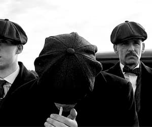 black and white, peaky blinders, and tommy shelby image