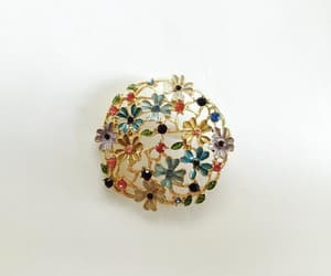 enamel, open work brooch, and etsy image