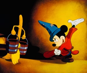 disney, fantasia, and mickey mouse image