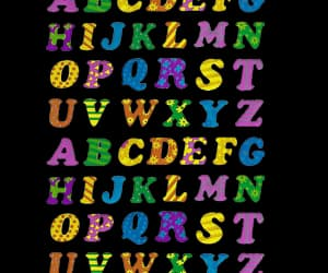 alphabet, colors, and core image